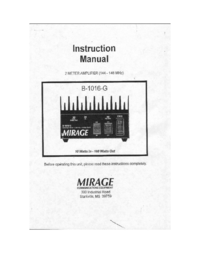 Manuale d'uso, Cirquit Diagramma Mirage B1016-G