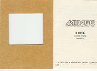 Bedienungsanleitung mit Schaltplan Mirage B1016