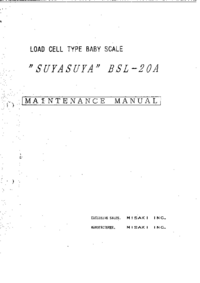 manuel de réparation Misaki SUYASUYA BSL-20A