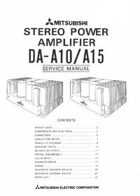 Manual de servicio Mitsubishi DA-15