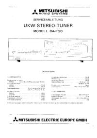 Instrukcja serwisowa Mitsubishi DA-F30