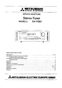 Instrukcja serwisowa Mitsubishi DA-F680