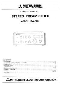 Instrukcja serwisowa Mitsubishi DA-P20