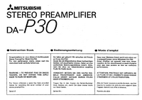 Instrukcja obsługi Mitsubishi DA-P30