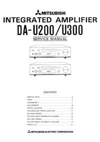 Instrukcja serwisowa Mitsubishi DA-U200