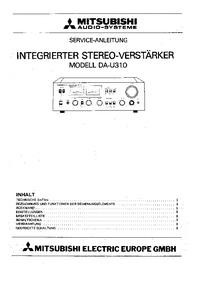 Instrukcja serwisowa Mitsubishi DA-U310