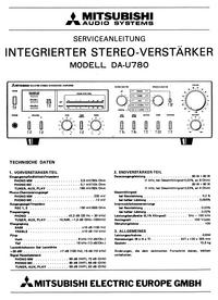 Instrukcja serwisowa Mitsubishi DA-U780