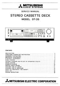 Service Manual Mitsubishi DT-35