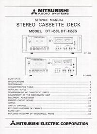 Instrukcja serwisowa Mitsubishi DT-4550