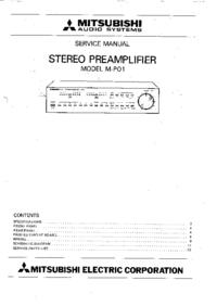 Instrukcja serwisowa Mitsubishi M-P01