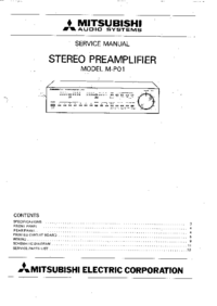 Manual de servicio Mitsubishi M-P01