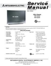 Manual de servicio Mitsubishi WD-62526