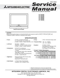 Manual de servicio Mitsubishi LT-3040
