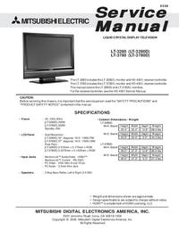 Service Manual Mitsubishi LT-3280D
