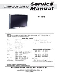 Service Manual Mitsubishi PD-5010