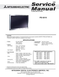 Instrukcja serwisowa Mitsubishi PD-5010