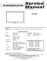 Service Manual Mitsubishi PD-5030