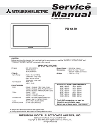 Service Manual Mitsubishi PD-6130