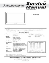 Servicehandboek Mitsubishi PD-6130