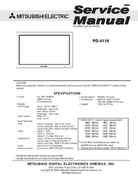 Servicehandboek Mitsubishi PD-6150