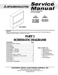 Instrukcja serwisowa Mitsubishi WS-65809