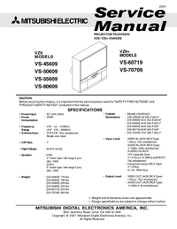 Service Manual Mitsubishi VS-60609