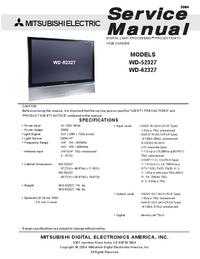 Instrukcja serwisowa Mitsubishi WD-62327