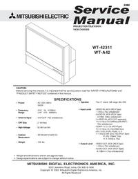 Service Manual Mitsubishi WT-42311