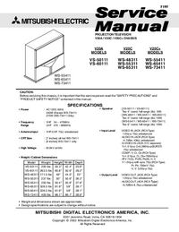 Service Manual Mitsubishi VS-60111