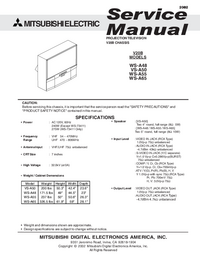 Service Manual Mitsubishi VS-A50