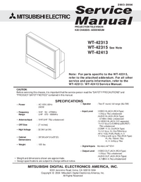 Service Manual Supplement Mitsubishi WT-42315