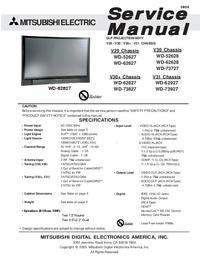 Servicehandboek Mitsubishi WD-52627