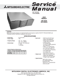 Service Manual Mitsubishi HD-5000A