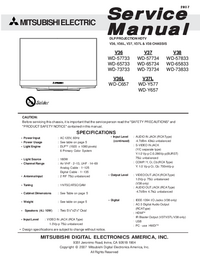Servicehandboek Mitsubishi WD-57734