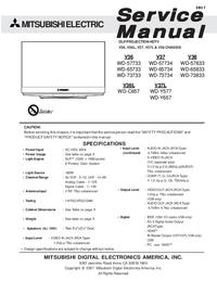 Service Manual Mitsubishi WD-73734