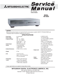 Service Manual Mitsubishi HD-6000