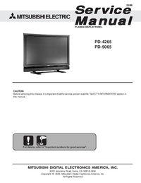Service Manual Mitsubishi PD-5065