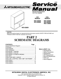 Service Manual, cirquit diagram only Mitsubishi V19+