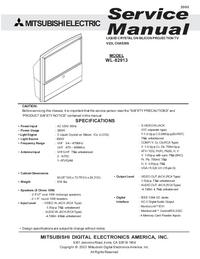Service Manual Mitsubishi WL-82913