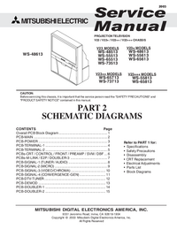 Service Manual, cirquit diagram only Mitsubishi WS-73513