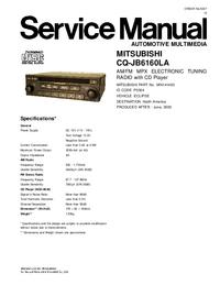 Service Manual Mitsubishi CQ-JB6160LA