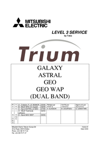 Service Manual Mitsubishi Trium Galaxy