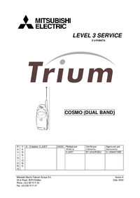 Serviceanleitung Mitsubishi Trium Cosmo