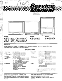 Service Manual Mitsubishi CS-31303C