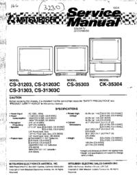 Servicehandboek Mitsubishi CS-31203