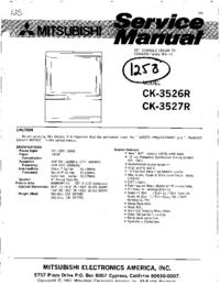 Service Manual Mitsubishi CK-3526R