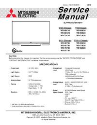 Manuale di servizio Mitsubishi WD-60C10