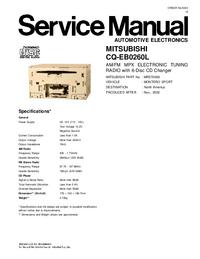 Руководство по техническому обслуживанию Mitsubishi CQ-EB0260L