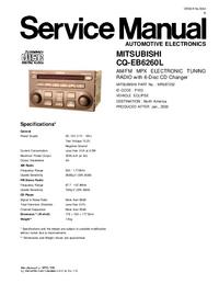 Instrukcja serwisowa Mitsubishi CQ-EB6260L