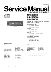 Service Manual Mitsubishi MR587249